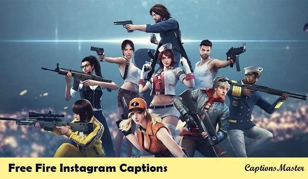 Free Fire Instagram Captions