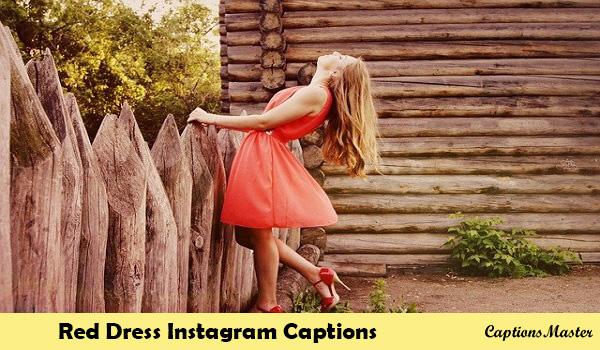 Red Dress Captions