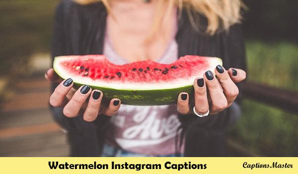 Watermelon Instagram Captions